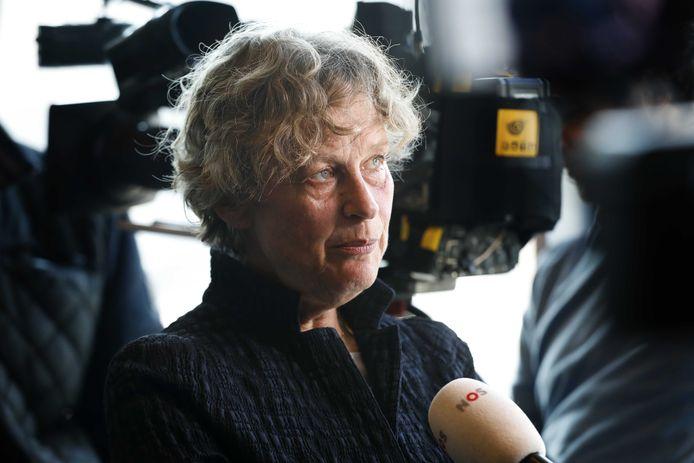 Bénédicte Ficq in februari van dit jaar, bij de weigering van het OM om tot vervolging over te gaan.