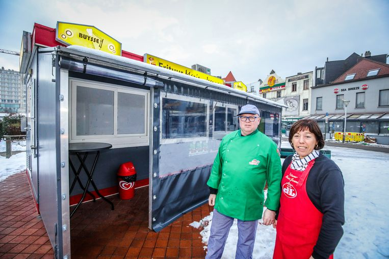 Blankenberge frituur marie Jeanne: Alain Goditiabois en Ann Bockstaele