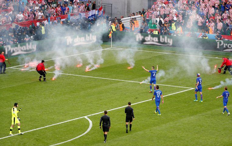 Vrijdag, Saint-Étienne: Tsjechië - Kroatië. Beeld REUTERS