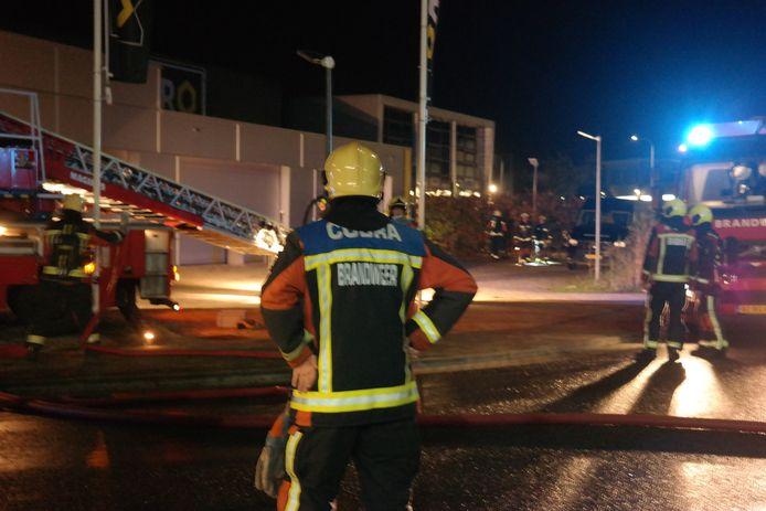 Brand bij Gerritsen IJzerwaren in Gouda