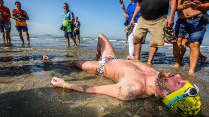IN BEELD. Straffe prestatie van Matthieu (27) zorgt voor emotionele taferelen bij aankomst in Knokke