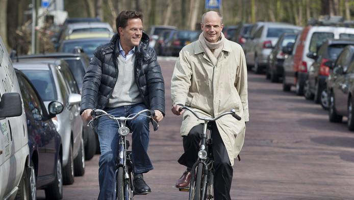 Premier Mark Rutte en VVD-fractievoorzitter Stef Blok