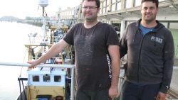 Sam en Diederiek brengen eerste 200 kilo garnalen aan wal met hun nieuwe vissersvaartuig