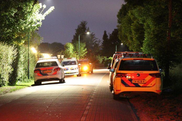 Meerdere politiewagens kwamen naar het park.