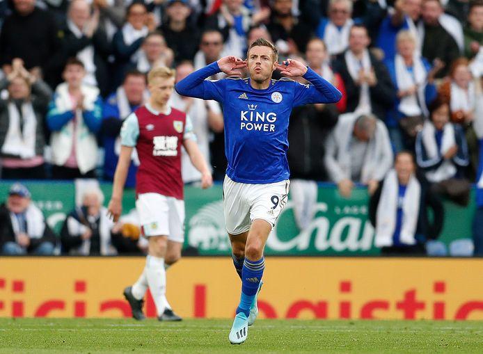 Jamie Vardy was weer eens trefzeker voor Leicester City.