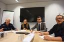 De jury: Toon Buitinck, Marije van Pamelen, Berend de Vries en Nico van de Wiel.