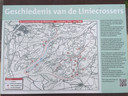 Informatiebord van Stichting Verzetshelden de Liniecrossers