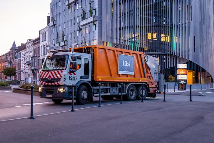 Camion poubelle Tibi à Charleroi