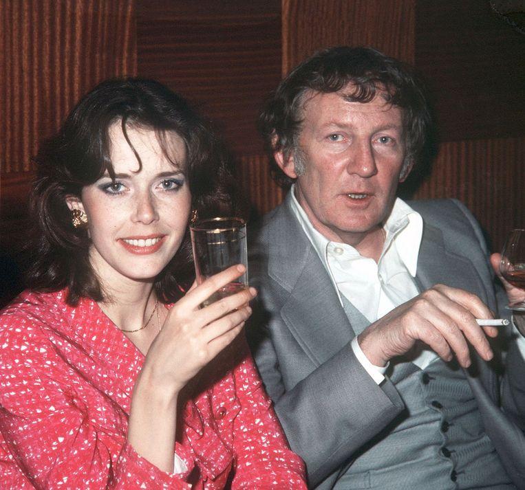 Sylvia Kristel met Hugo Claus, 28 mei 1976. a kristel met Hugo Claus. Foto ANP Beeld -