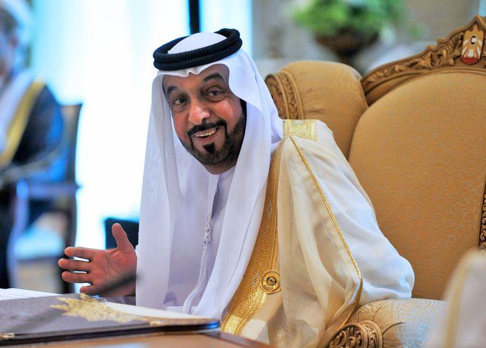 Sjeik Khalifa Al Nahyan, de emir van Abu Dhabi.