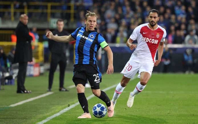 Ruud Vormer in actie in de thuiswedstrijd tegen AS Monaco.