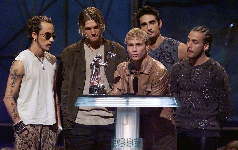 De Backstreet Boys in 1999: AJ, Nick, Brian, Kevin en Howie.