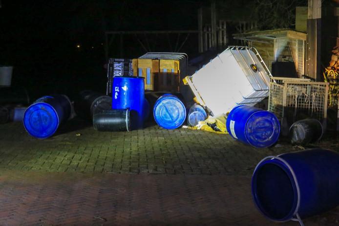Het gedumpte drugsafval in Elsendorp.
