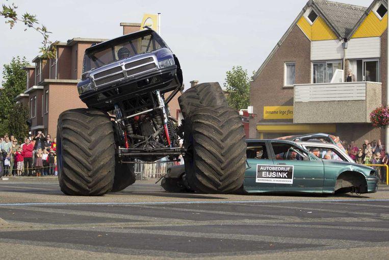 De monstertruck in Haaksbergen. Beeld anp