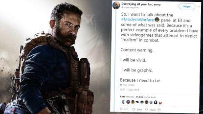 """Nieuw videogame Call of Duty wil strijd """"zo realistisch mogelijk"""" maken. Ex-marinier vertelt ontdaan hoe oorlog écht is"""