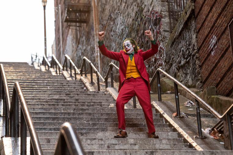 Joaquin Phoenix als Arthur Fleck in Joker.  Beeld Niko Tavernise
