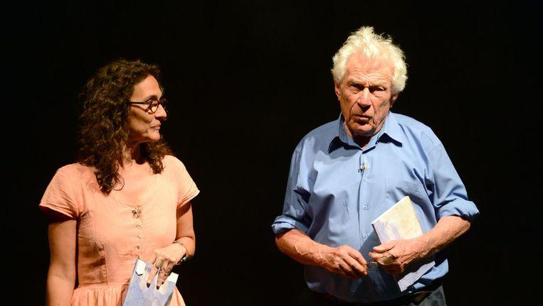 John Berger en zijn vrouw Katya. Beeld AFP
