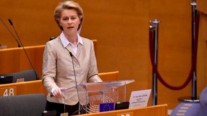 """Ursula von der Leyen: """"Europees antwoord op coronapandemie is het meest indrukwekkende in de wereld"""""""