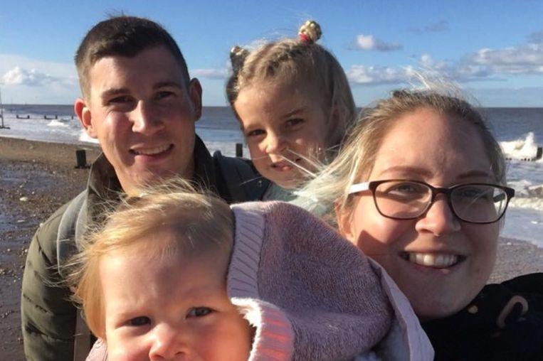 Brett in betere tijden met zijn dochtertjes Freya en Ella. Hij hoopte ook nog zijn derde dochtertje in de armen te kunnen sluiten.