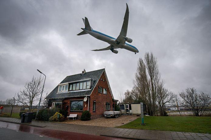 Een woning in de buurt van Schiphol, foto ter illustratie.