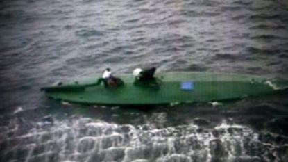 Duikboot met twee ton cocaïne na achtervolging geklist