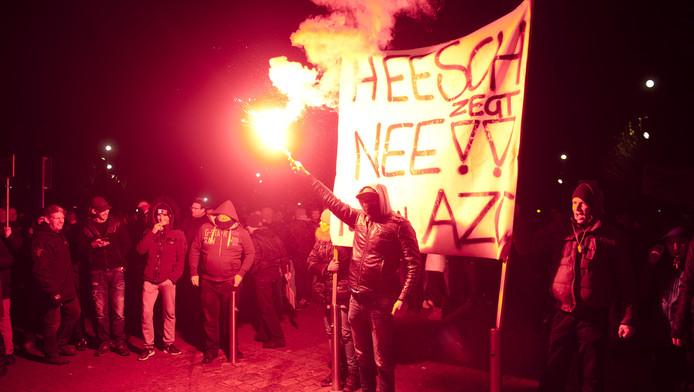 Het protest in Heesch tegen een asielopvang
