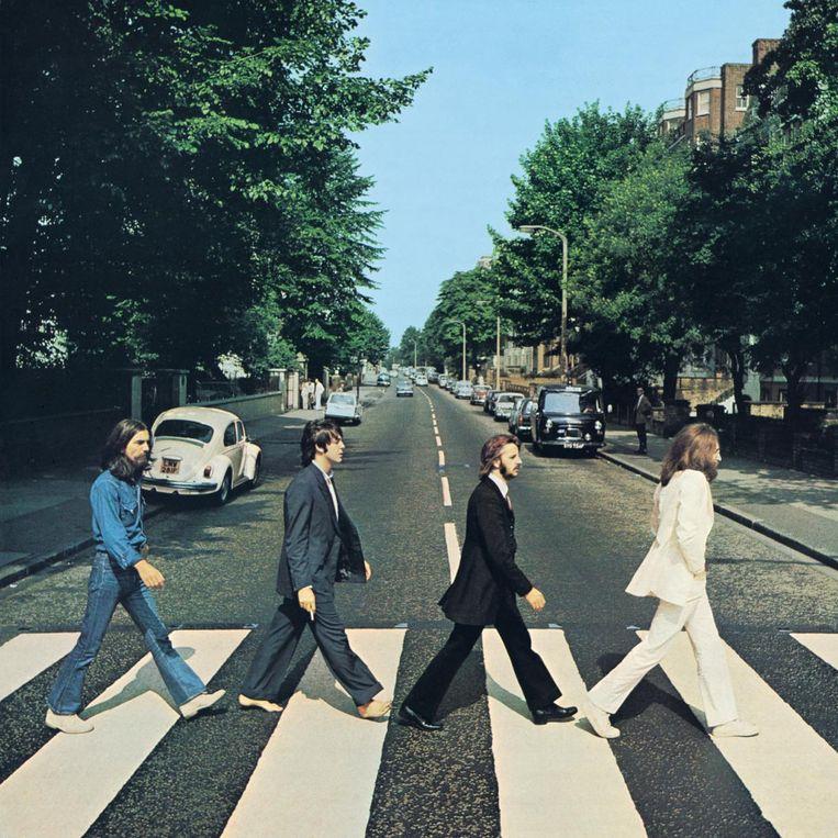 De beroemdste band en het beroemdste zebrapad uit de geschiedenis. Beeld Apple