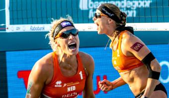 Keizer en Meppelink spelen pas zes maanden samen, maar zijn nu al Europees kampioen beachvolleybal