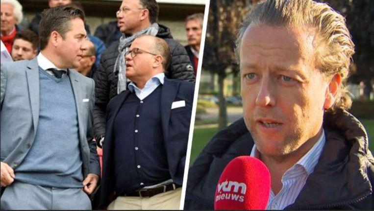 Links: Mannaert en Verhaeghe, respectievelijk sportief manager en voorzitter van Club Brugge. Rechts: Jess De Preter, voorzitter van makelaarsvereniging BFFA