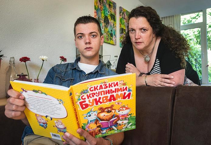 Ricky Zagers en haar zoon Martijn.