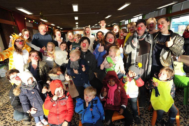 Veel rode neuzen vandaag in basisschool De Zonnebloem.