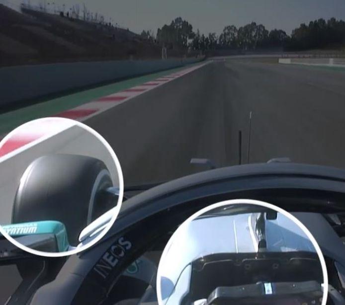Cette nouveauté a été découverte en observant les images de la caméra embarquée sur la monoplace W11 de Lewis Hamilton