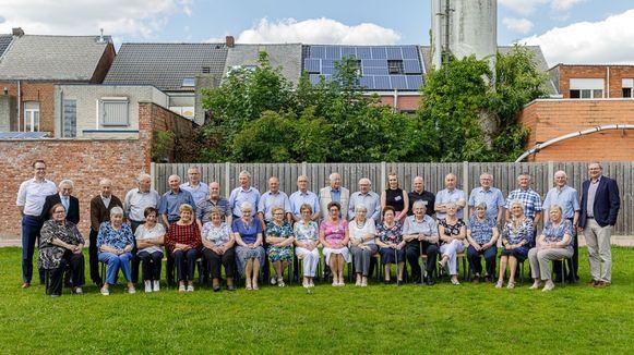 De koppels die 60 jaar getrouwd zijn.