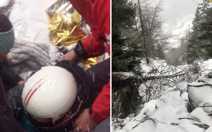 De hulpdiensten verspreidden deze beelden van de reddingsoperatie.