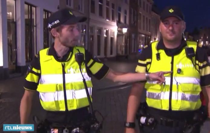 Stilll uit de reportage van RTL Nieuws over de aanpak van de politie in Bergen op Zoom.