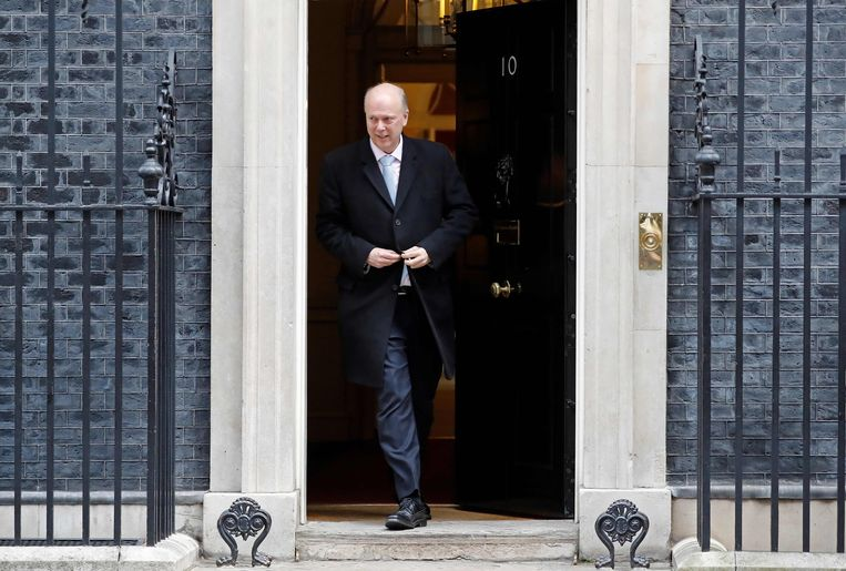 Britse minister van Transport Chris Grayling. Beeld null