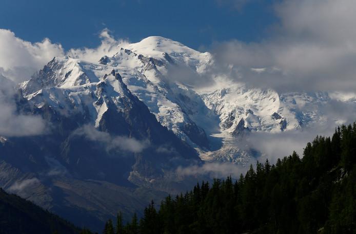 De Mont-Blanc gezien vanuit Emosson, Zwitserland.