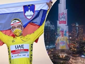 """Pogacar, die op hoogste gebouw ter wereld prijkt, over de WK-wegrit: """"Van zo'n parcours hou ik"""""""