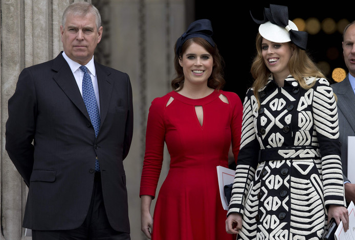 Prins Andrew en zijn twee dochters.