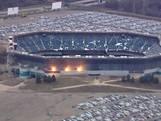 American football-stadion stort in door explosieven