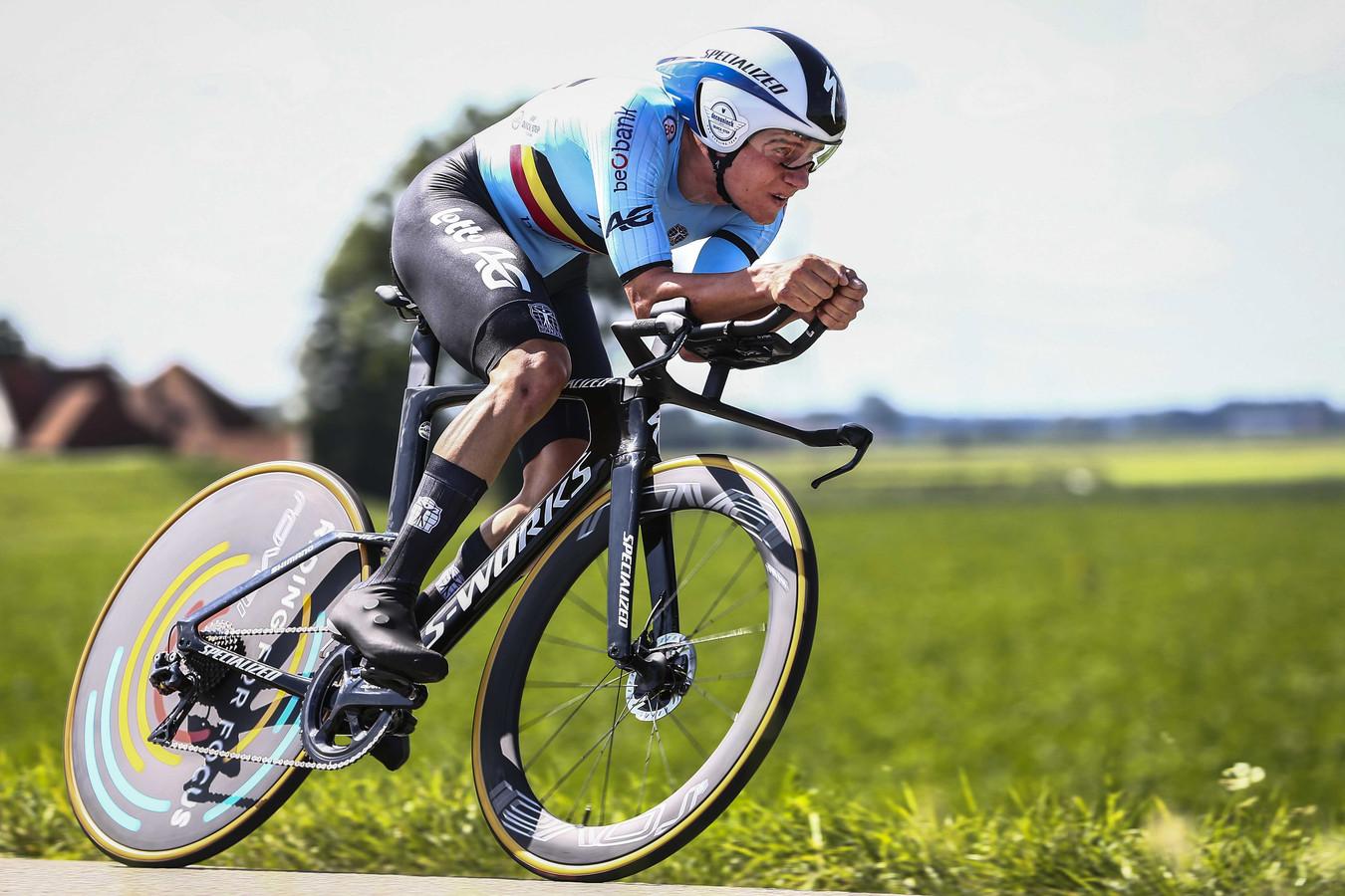 """Champion d'Europe à Alkmaar en août, Remco Evenepoel est """"le super favori"""" pour Victor Campenaerts."""