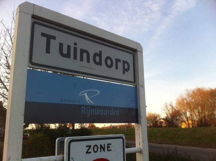 Het buurtschap Tuindorp heeft een wit kombord.