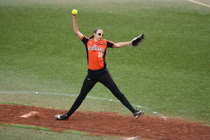 Ilona Andringa van het Nederlands team.