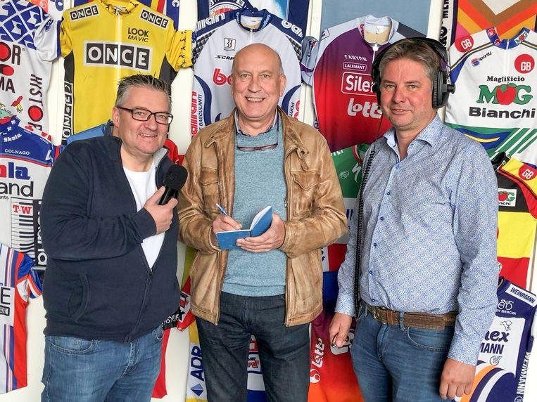 Geert Van De Velde,  Peter Van Dorpe en Ludo Daelman brengen de politieke kopstukken bijeen in het Pelotoncafé en op de radio.