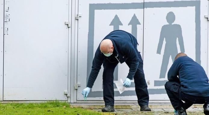 Rond de Kunsthal wordt sporenonderzoek gedaan naar de schilderijenroof. Foto: ANP