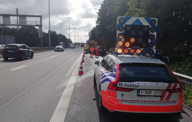 Het ongeval was snel afgehandeld op de autosnelweg.