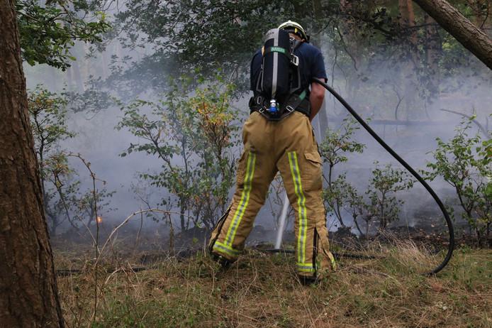 Een brand in een bosgebied aan de Beekse Peeldijk in Bakel was dinsdagmiddag snel onder controle.