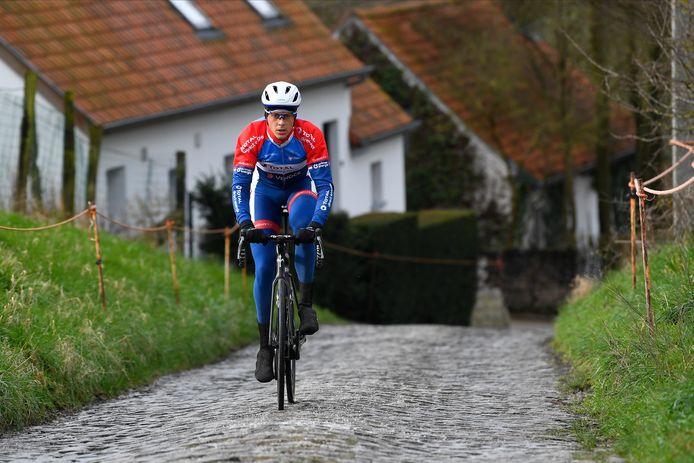 Niki Terpstra in februari in de voorbereiding op de voorjaarsklassiekers, zoals zijn Ronde van Vlaanderen en Parijs-Roubaix.