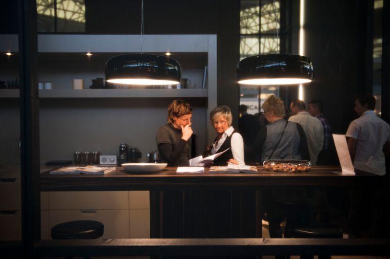 De Woonbeurs in Amsterdam (nu de vt wonen&design beurs), volgens de ACM gingen de keukenzaken op dit soort beurzen over de schreef.  Beeld ANP