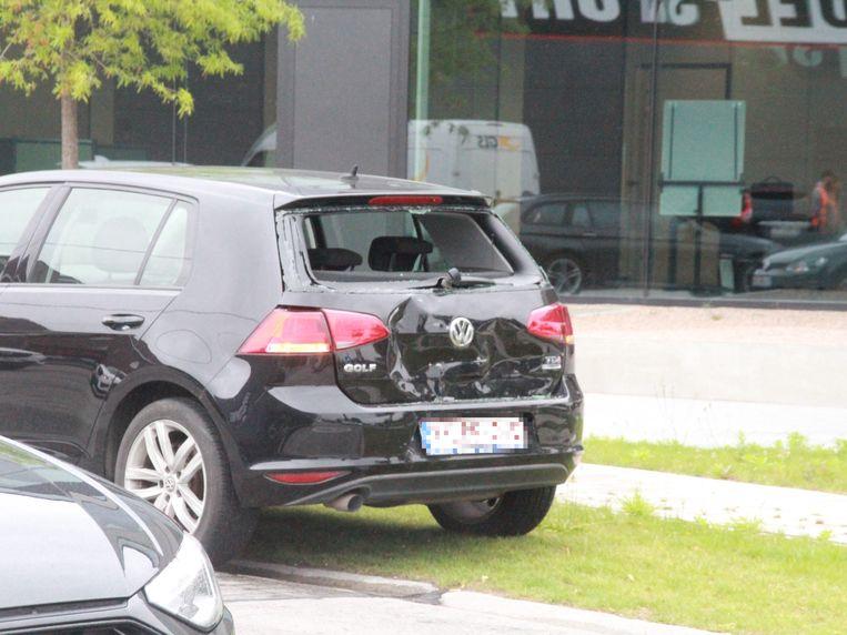 De aangereden Volkswagen Golf